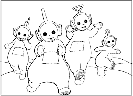 singing teletubbies coloring picture kids teletubbies