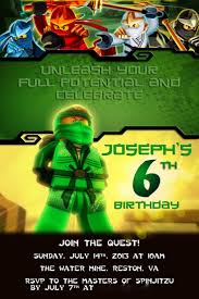 Invitation Card 7th Birthday Boy 9 Best Ninjago Images On Pinterest Kid Birthdays Lego Ninjago