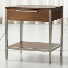 james walnut with black frame nightstand crate and barrel