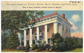 Colonial Homes File Georgia Is Famed For Peaches Kaolin Sports Sunshine And