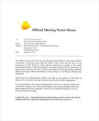9 notice memo free sample example format download