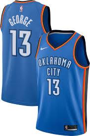 nike s oklahoma city thunder paul george 13 blue dri fit