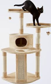 Cat Scratcher Tower Frisco 48 Inch Cat Tree Large Cream Chewy Com