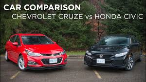 honda car comparison car comparison chevrolet cruze vs honda civic driving ca