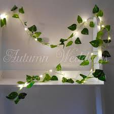 leaf lights 2m 4m wedding decorations string lights
