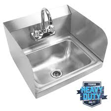 commercial kitchen stainless steel wall mount hand sink with side