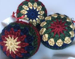 crochet ornaments etsy
