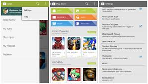 play store android new play store 4 4 with slide out navigation drawer now