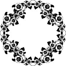 vintage black clipart vintage black and white floral design