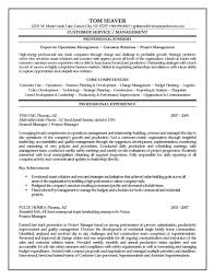 Resume Sample With Summary by Project Manager Resume