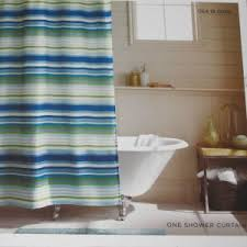 Blue And Green Shower Curtains Blue Green Herringbone Stripe Polyester Fabric Shower Curtain Target