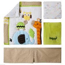 Jungle Nursery Bedding Sets by Amazon Com Circo Jungle Stack 4 Piece Crib Nursery Set Neutral
