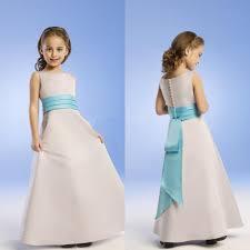 cheap custom made flower girls dresses pleated off shoulder satin