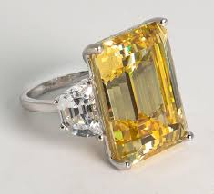 canary yellow engagement ring magnificent faux 25 carat rectangular step cut fancy canary yellow