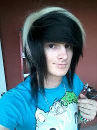 vayne xheart pastel goth boy long hair man hair of two or