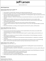 nursing resume registered resume resumesles net
