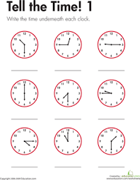 second grade time worksheets tell the time 1 worksheet education