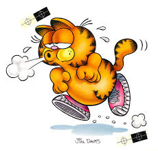 thanksgiving garfield garfield airbrushed artwork jogging garfield u2013 garfield u0027s art