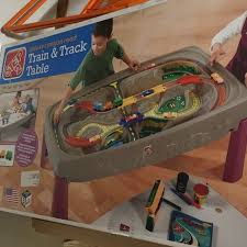 train and track table bn step 2 deluxe canyon road train and track table babies kids