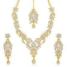gold stone necklace sets images Sukkhi pleasing 3 pieces necklace set combo jpg