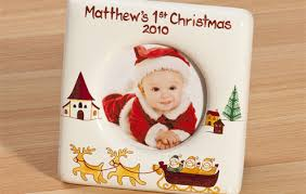 baby u0027s first christmas picture frame i just love it