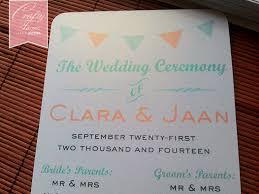 Flat Wedding Programs Wedding Card Malaysia Crafty Farms Handmade May 2014