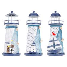 lighthouse home decor portable ornament nautical ocean lighthouse lantern lamp color