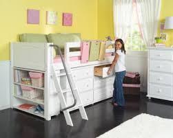 girls low loft bed w ladder u0026 storage