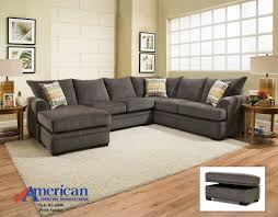 Ottomans Perth American Perth Smoke Sectional Sofa 6800 Savvy Discount Furniture