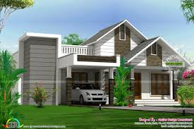 cute sloped roof home 3 bedrooms in 1425 sqft kerala home design