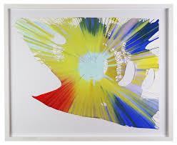 Spin Flag Damien Hirst Shark Spin Painting Framed U2013 The Art Hound Gallery