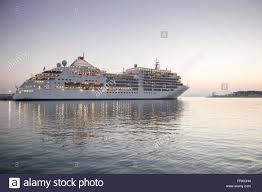 cruise ship mv silver spirit silversea cruises at the pier