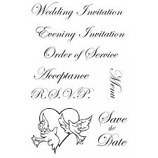 sts for wedding invitations script invitation rubber st set