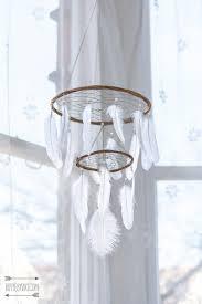 chandelier dream catcher mobile white dream by hippiebyviki