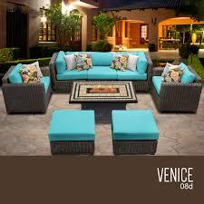 Outdoor Wicker Patio Furniture Sets - tk classics venice 8 piece outdoor wicker patio furniture set 08d