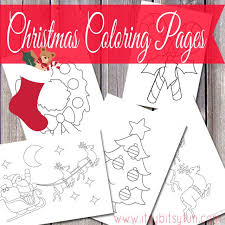 christmas coloring pages print itsy bitsy fun
