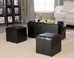 Black Ottoman Storage Bench Lovable Black Ottoman Coffee Table Black Leather Square Storage
