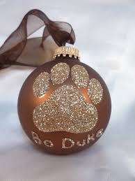 paw print glitter ornament personalized pet doggie glass