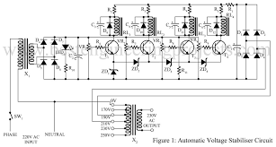 automatic voltage stabiliser circuit best engineering projects