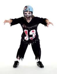 Football Halloween Costumes Toddlers Dead Zone Zombie Football Costume Child Medium Football Costume