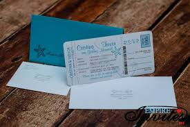 Boarding Pass Wedding Invitations Teal Boarding Pass Wedding Invitations To Melia Cayo Guillermo