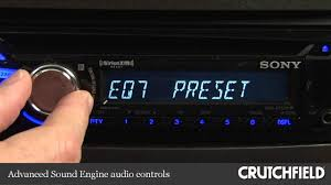 sony cdx gt570up cd receiver display and controls demo