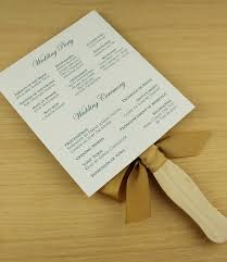 wedding ceremony fan programs paddle fan wedding program template vintage floral clover