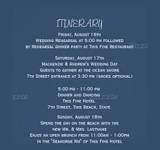 wedding itinerary template for guests wedding itinerary template 44 free word pdf documents