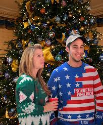 American Flag Christmas Lights Police Gear American Flag Christmas Sweater