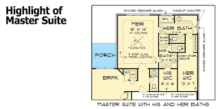 his and her bathrooms 55137br architectural designs house plans