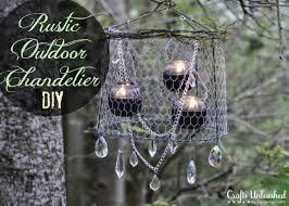 Decorating A Chandelier Outdoor Chandelier Diy Crafts Unleashed