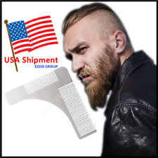 beard template comb for shaping u0026 styling symmetry stainless