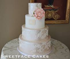 satin u0026 lace wedding cake cake by renay zamora cakesdecor