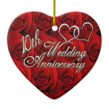 10th wedding anniversary roses 10th wedding anniversary ornament zazzle